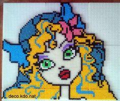 Lagoona Blue Monster High hama perler beads by Deco.Kdo.Nat