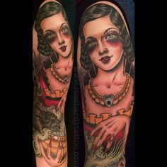 Rose Hardy Rose Tattoos, Flower Tattoos, Bird Tattoos, Rose Hardy, Portraits, Woman Illustration, Neo Traditional Tattoo, Color Tattoo, Tattoos For Women