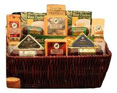 Classic Selection of Cheese and Sausage Gift Basket