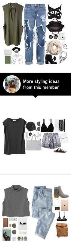 """""""Untitled #2656"""" by wtf-towear on Polyvore featuring One Teaspoon, adidas Originals, Alexander Wang, Agent Provocateur, Quay, H&M, CB2, The Horse and Mead"""
