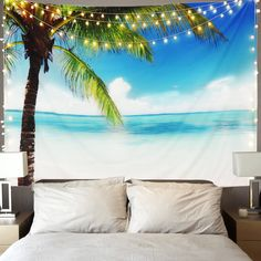 Discover the best beach themed tapestries and coastal wall tapestries. We love beach wall decor and tapestries are affordable and beautiful, which makes them a great option. Beach Bedroom Decor, Beach Wall Decor, Tree Tapestry, Tapestry Wall, Wall Tapestries, Palm Trees Beach, Beach Scenes, Beach Cottages, Coastal Decor