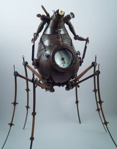 Greg Brotherton sculpture for the beinArt Surreal Art Show at. Robots Steampunk, Design Steampunk, Art Steampunk, Steampunk Animals, Steam Punk, Art Fantaisiste, Sculpture Metal, Arte Robot, Scrap Metal Art