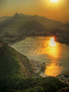 Botafogo, Rio de Janeiro - RJ / Brasil #beautifulplaces #sunset #travel