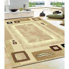 Trendy Large Modern Floor RUG Carpet Money Back Guaranty 1366 11 Border Pattern, Brown Rug, Floor Rugs, Rugs On Carpet, Beige, Flooring, Modern, House, Home Decor