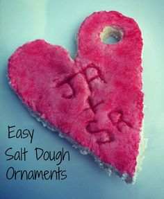 Easy salt dough ornaments we all did as kids. School Holiday Crafts, School Holidays, Holiday Fun, Holiday Ideas, Holiday Decorations, Happy Holidays, Salt Dough Crafts, Salt Dough Ornaments, Diy Christmas Ornaments