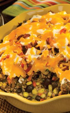 Mexican Beef and Corn Casserole