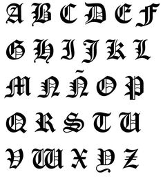 14 Best Fonts Images Calligraphy Fonts Gothic Alphabet