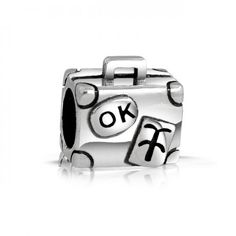 Bling Jewelry Sterling Silver Travelers Luggage Charm Bead Pandora Compatible