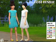 Hoselle dress by Fuyaya at Sims Artists • Sims 4 Updates