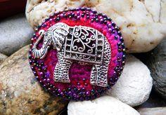Elephant brooch.