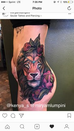 Lion tattoo  Finished piece (part 3) @kenya_s @miryamlumpini