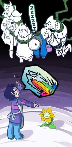 Frisk:SANS GASTER BLASTER THIS MOFO ALREADY!!! Sans:zZzZz*sans is not here right now, he is in dreamland*