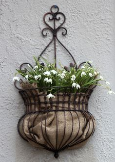New House: Snowdrops and Burlap Come Together