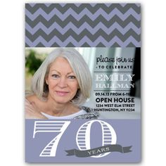 Chicago Chic Any Color 70th Birthday Invitations