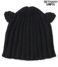 Ribbed Cat Ear Beanie - Bethany Mota Collection