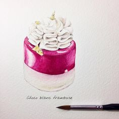 Sweets story Choco blanc framboise Made by @pierre_michel_nj A little bit pink pink ✨✨ 一點粉紅 #fashion #illustration #drawing #painting #sharing #dessert #cake #pastry #pastrychef #handmade #pink #blanc #framboise #artwork #art #sketch #watercolor #holbein #cute #lovely #adorable #instagram #golden #點心 #甜點 #糕點 #水彩 #插畫 #taiwan #lingsketchbook