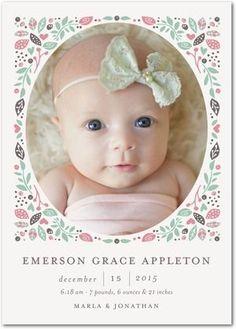 Facebook Birth Announcement Template