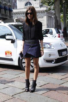 Street Style Milan Fashion Week primavera verano 2013
