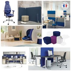Le sens de la couleur bleue pour l'aménagement : confiance et sécurité avenir, modernité et innovation capacité de baisser la tension. #BMBureau #bureau #mobilier #madeinfrance #office #moodboard #couleur #color #bleu #darkblue #interior #interieur #inspiration #creation #innovation #cloison #divider #chaise #mobilier #table #design #graphic