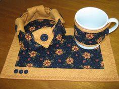mug rug + cestinha de biscoitos by Zion Artes por Silvana Dias, via Flickr