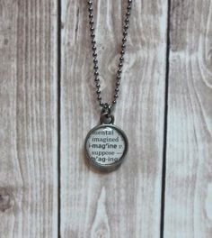 Imagine Dictionary Page Necklace by TheBookCellar on Etsy