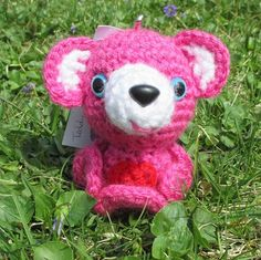 Teddy Bear Love Inkie Pink White Red Heart  Teddy Bear Inkie Love Bear  A teddy bear is a classic. A friend for everyone. One of the first cuddle toys for a little one. Teddy bears can go anywhere you
