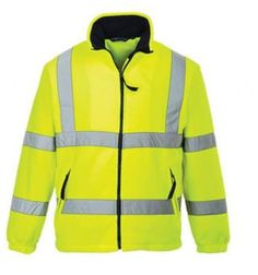 When high visibility is an essential for your workers, you can combine HI-Vis with comfort in the Portwest Work Wear Hi-Vis Mesh Lined Fleece Jacket that fully conforms to EN471 Class 3:2 certification standards. As well as being constructed in bright yellow 100% polyester with anti-pilling finish there are also shoulder, upper and lower arm, chest and waist reflective bands. Pockets are situated at either side and at the front, all have zip fastenings.