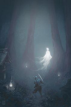 Japanese Forest, Daniel Mallada Rodríguez on ArtStation Fantasy Characters, Forest, Fantasy Artwork, Fantasy Art, Amazing Art, Fantasy Creatures, Fantasy Landscape, Dark Art, Scenery