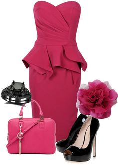 """Seductive pink"" by lil-sunshine8 ❤ liked on Polyvore"
