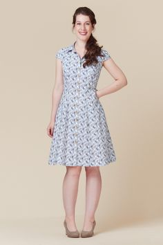 Shirtdress with princess seams. A bit pricey for me, but maybe?