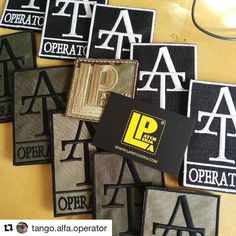 Custom Embroidered Patches! Thanks to @tango.alfa.operator for the pic! #custompatch #embroideredpatch #patch #patches #lapatcheria