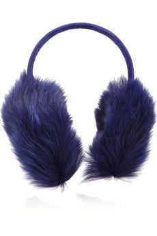 Karl Donoghue Shearling and suede earmuffs   NET-A-PORTER