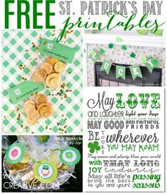 St. Patrick's Day Printables galore! Lots of prints for your home, family and parties!