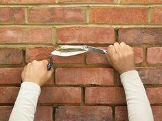 Repair mortar on a brick wall
