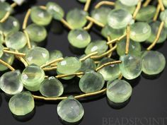 Natural ''NO TREATMENT'' Phrenite Faceted Heart by Beadspoint, $15.95