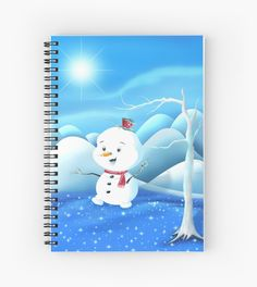 'Snowbaby on Sparkling Ice' Spiral Notebook by We ~ Ivy Presents For Friends, Spiral Notebooks, My Themes, Website Themes, Good Cause, Sparkling Ice, Beach Towel, Ivy, Snowman