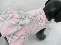 Dog Coat Fleece Ruffle Custom Made