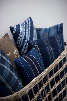 Cloth & Goods Japanese blue pillows