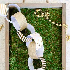 Fancy Gold Foil and Glitter Paper Chain Kit   Shop Sweet Lulu