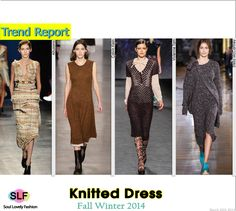 Knitted #Dress #Fashion Trend for Fall Winter 2014 #Fall2014 #Fall2014Trends #FashionTrends2014