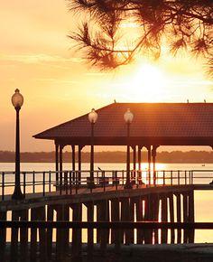 City Pier overlooking Lake Jackson, Sebring FL
