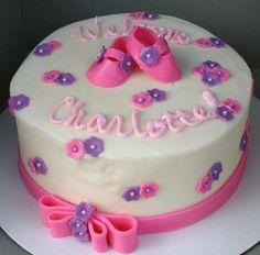 Baby girl shower cake Maybe for Baby Katelynn? Shay's Shower