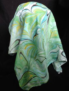 Marbled Scarf by ComplementsByLaura on Etsy