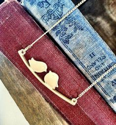 God Love Birds on Branch Necklace