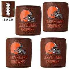 Cleveland Browns NFL Football Can Koozies-4 Pack