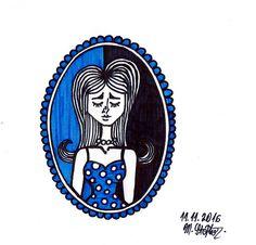 cute girl black and blue  @maggie_creates_ @maggiestopko