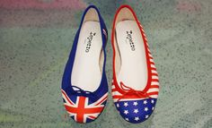 LOOK 1 - Repetto for Opening Ceremony Exclusive Flag Ballerinas $295.00