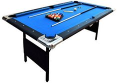 The Hathaway Fairmont 6 ft. Portable Pool Table is neither big nor small pool table. Its space-friendly feature, quality felt, nice cushion and sturdy MDF pool table top definitely touch the buyers.