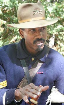 Second Lieutenant Samson Washington of the 9th Calvary (Shelton Johnson, National Park Ranger)