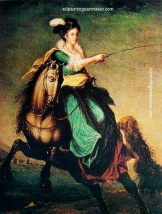 Domingos Sequeira Retrato equestre de Carlota Joaquina of Spain - Domingos Sequeira, painting Authorized official website